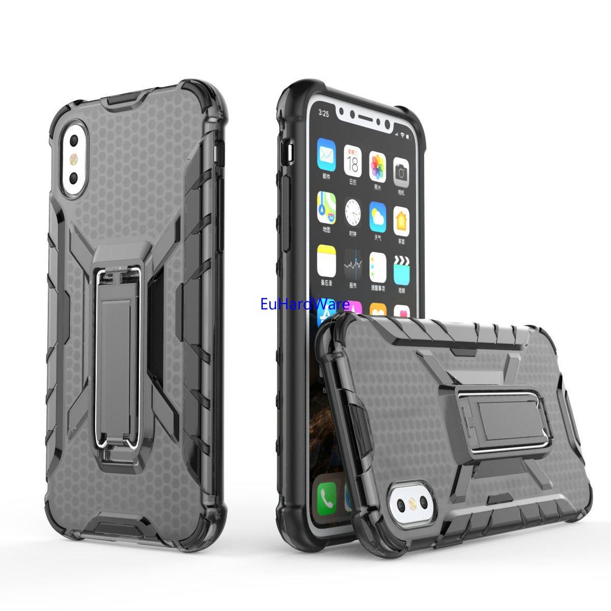 Для iPhone XS MAX Case 8 PLUS 7 6S падения Испытано Защитный чехол   Kickstand   Совместимость с Apple, iPhone