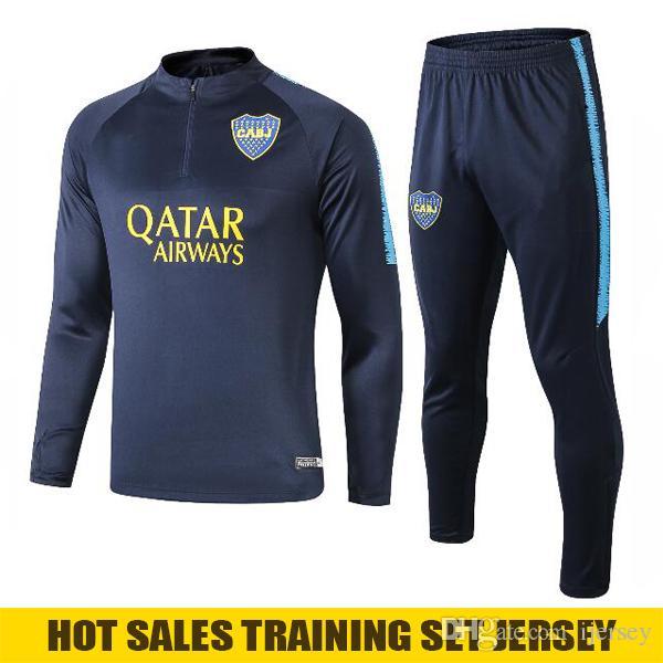 Boca Juniors Soccer Tracksuit 2019 Men Boca Juniors Football Tracksuit Boca Juniors Training Suit Jogging Long Sleeve Football shirts