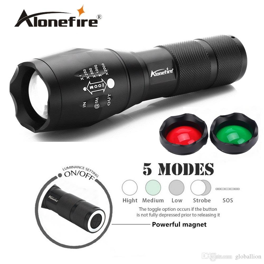 AloneFire E17 XM-L2 Magnet 18650 battery Tactical hunting LED Flashlight portable outdoors torch G700 XM-L2 Climbing adventure search rescue
