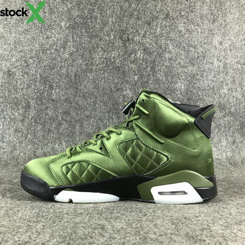 Yeni Geliş 6 VI Pinnacle SNL Ceket Erkek Jordon basketbol Ayakkabı Üst Kalite 6S Yeşil Doğa Sporları Ayakkabı Boyut US7--13 ile Orijinal Kutusu