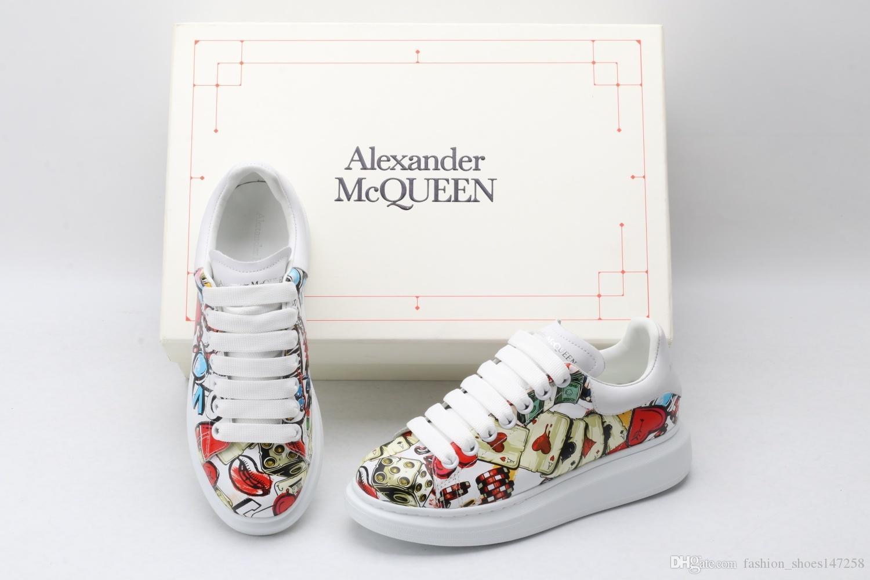 2020 NEW AY мужских и женских высококачественных кроссовки случайных платформ белых туфель кожаных внутренние кроссовки