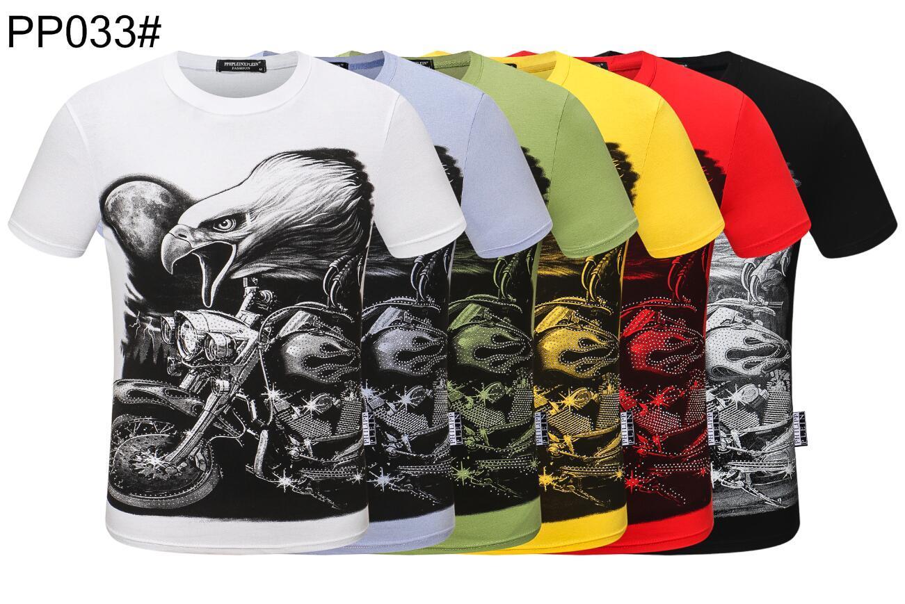 20ss бренды спорт хип-хоп дизайн Зимняя мужская футболка с коротким рукавом хлопок череп хип-хоп дизайнеры мужские женские футболки топ#689