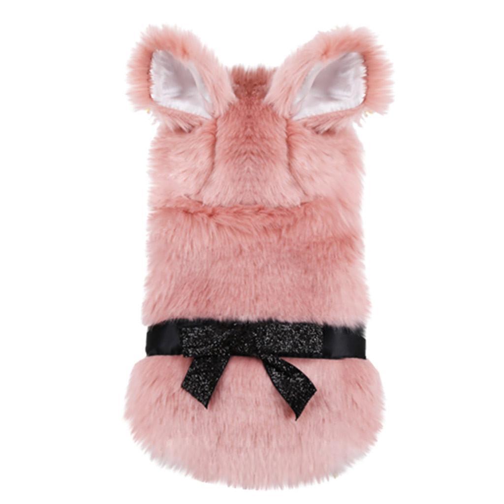 Pet plus Samt warme shirts Katzen-Hundeweihnachts Winter warme Kleidung Kleid verdicken Kleidung niedliche rosa T-Shirts für Hunde # 927g20