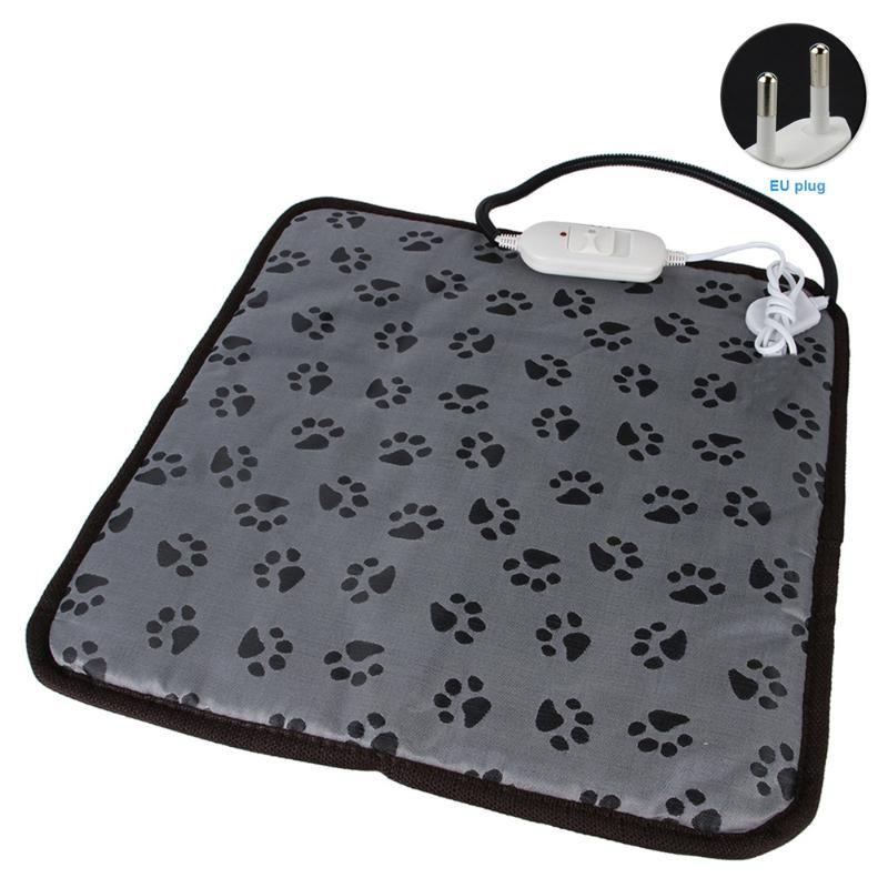Coperta Mat Pet Dog del rilievo di riscaldamento elettrico regolabile Footprint temperatura del letto di usura impermeabile resistente Cat Sicurezza
