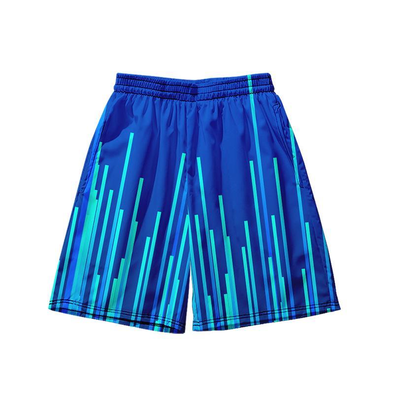 WAMNI Plaj Şort Çizgili Streetwear 3D Şort Casual Gevşek Yaz Elastik Topu Pant Erkekler Kalça Hop Harajuku Soğuk