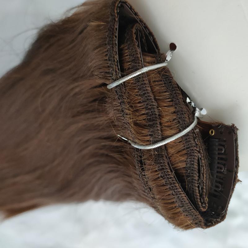 Peruanische Clip auf Haarverlängerungen 100g 8pcs gerade set afroamerikaner Clip-Welle im menschlichen Haarverlängerung setzt eine Packung