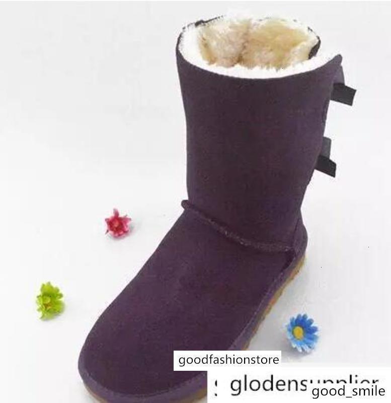 EU25-43 NEW WGG Australie bottes d'hiver grands classiques en cuir véritable Bailey bowknot enfants womens enfants BAILEY arc chaussures bottes de neige botte R150