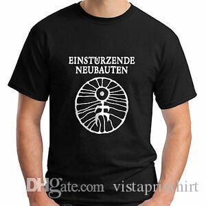 Yeni Einstürzende Neubauten Kısa Kollu Siyah Erkek T Shirt Size S 5XL
