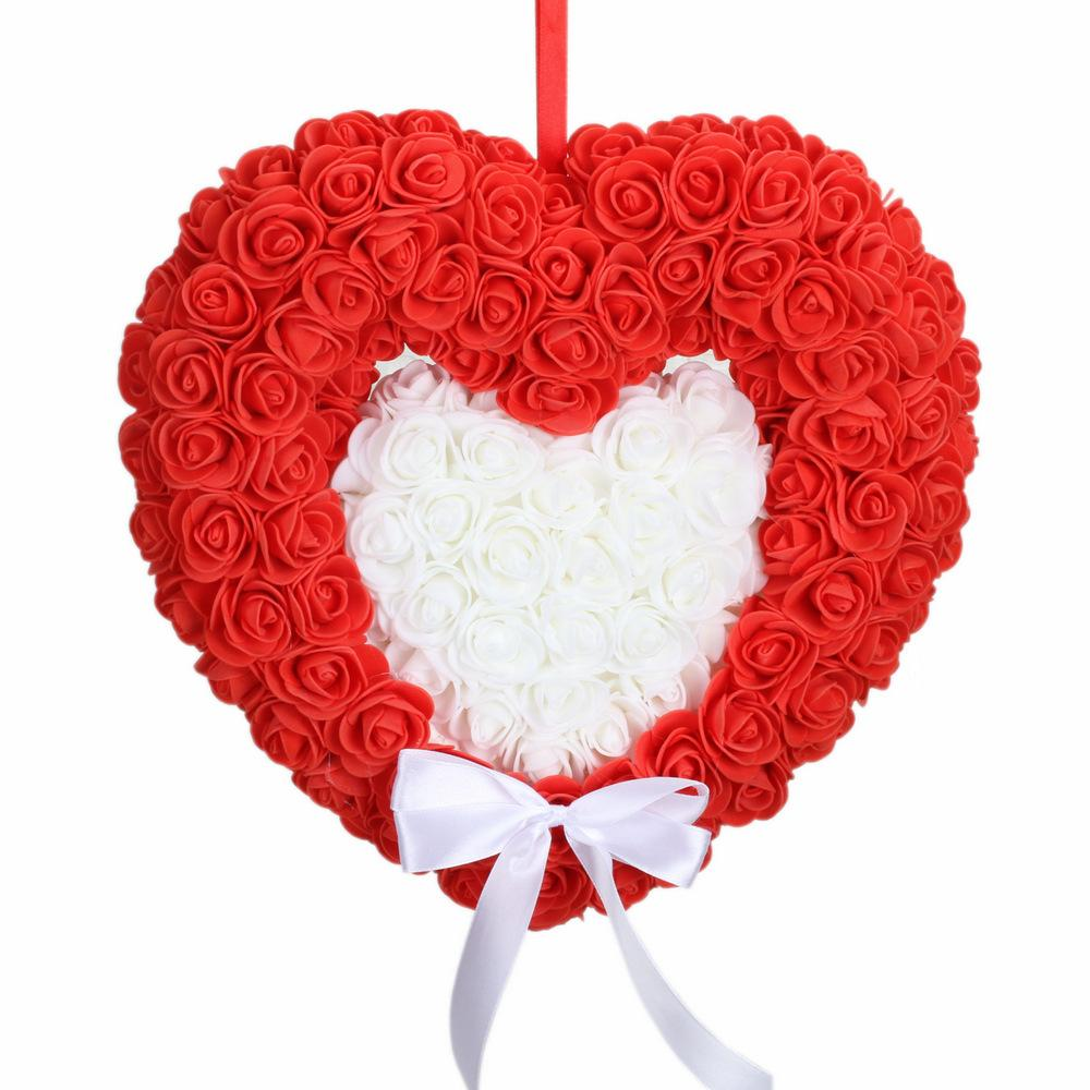 Wedding supplies love roses double heart wreath gauze ornaments wedding wedding room decoration flower ball props