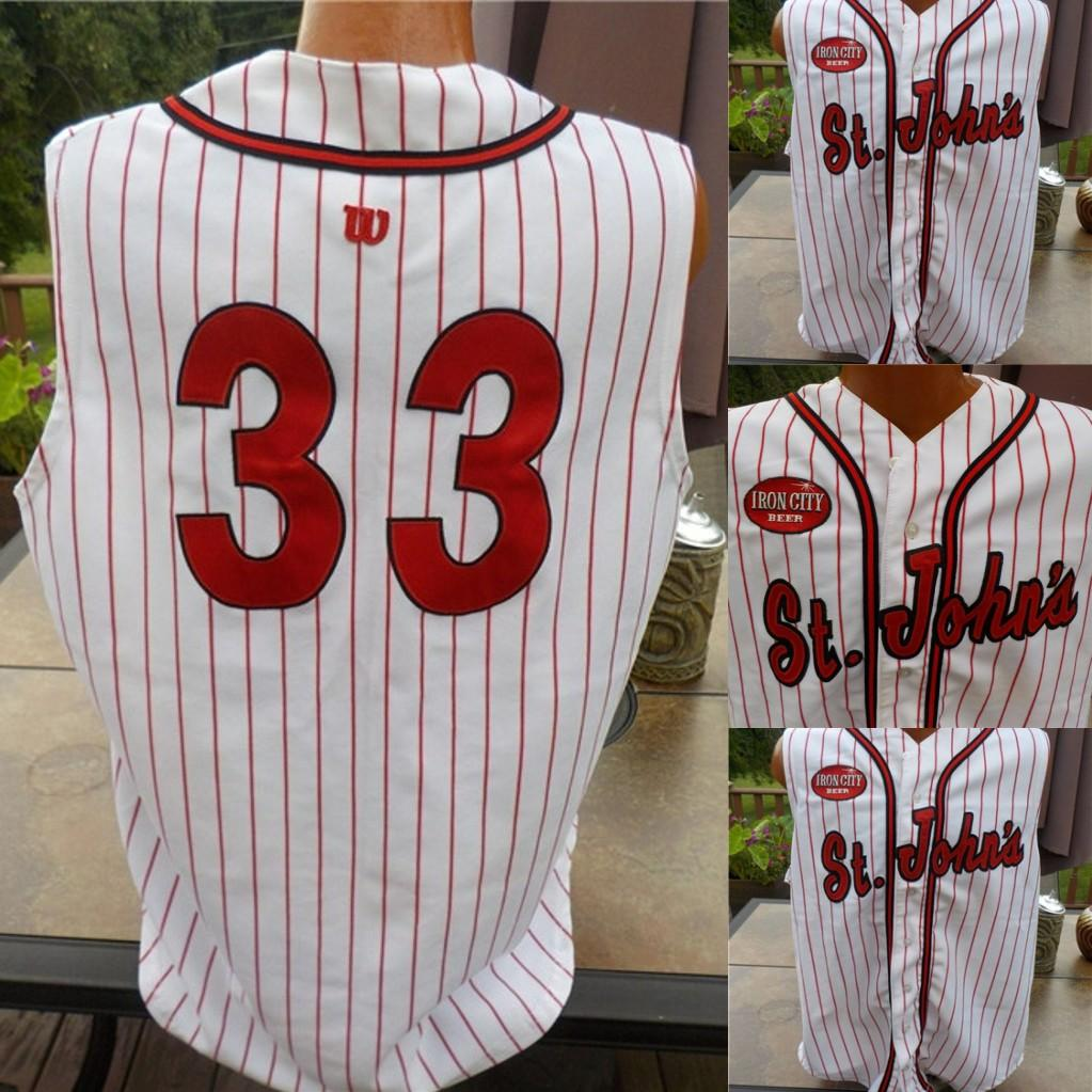ST. JOHN'S Vintage Baseball Jerseys Federation League IRON CITY PATCH New colors High Quality Size S-3XL or custom any name or number jersey