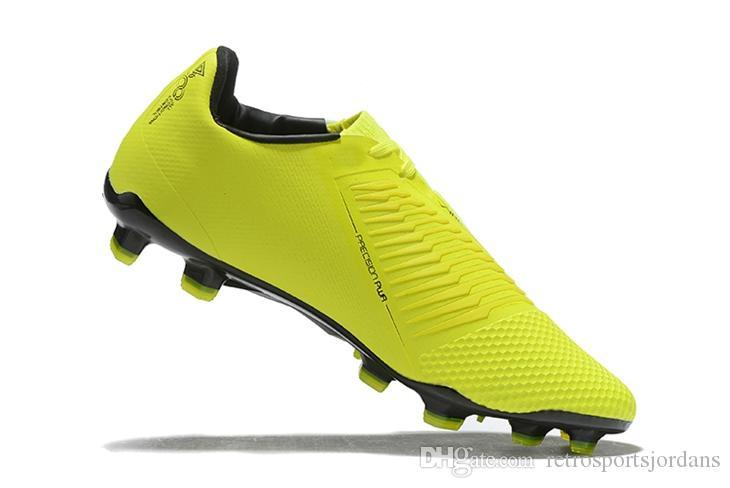 Acquista Nike Jr. Phantom Venom Elite FG Con Box Volt Verde Veleno Tacchetta Terreni Duri Bianca Scarpe Da Calcio Nere Cremisi Brillanti Spedizione