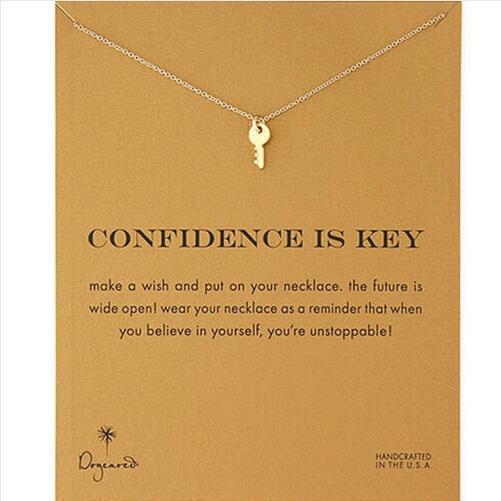 Мода Прохладного Творческого Золота Корейского Стиль Ключ Сплав ключица Короткие ожерелья