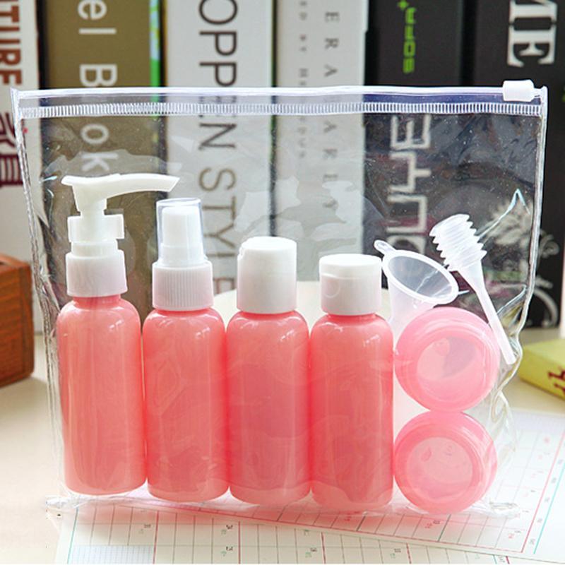 Mini Travel maquillaje botellas de cosméticos crema facial maceta de plástico transparente vacío sombra de ojos conforman botella container