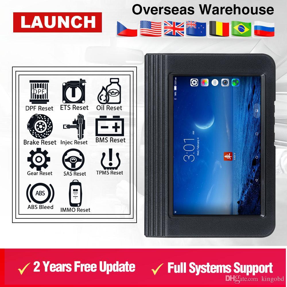 LAUNCH X431 V 8 Bluetooth/Wi-Fi Automotive Full System Diagnostic tool ECU Coding X-431 V OBD2 Scanner update online