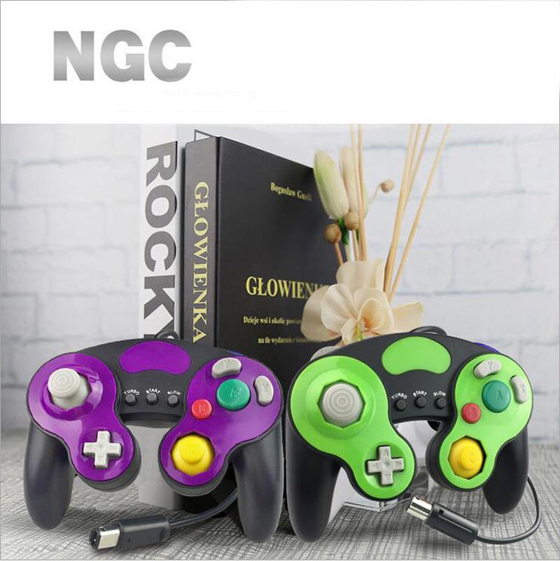 Wired Gamepad GameCube para NGC Console Wii Game Cube 3 analógico Vibration Gaming Turbo Lento Iniciar Decoração