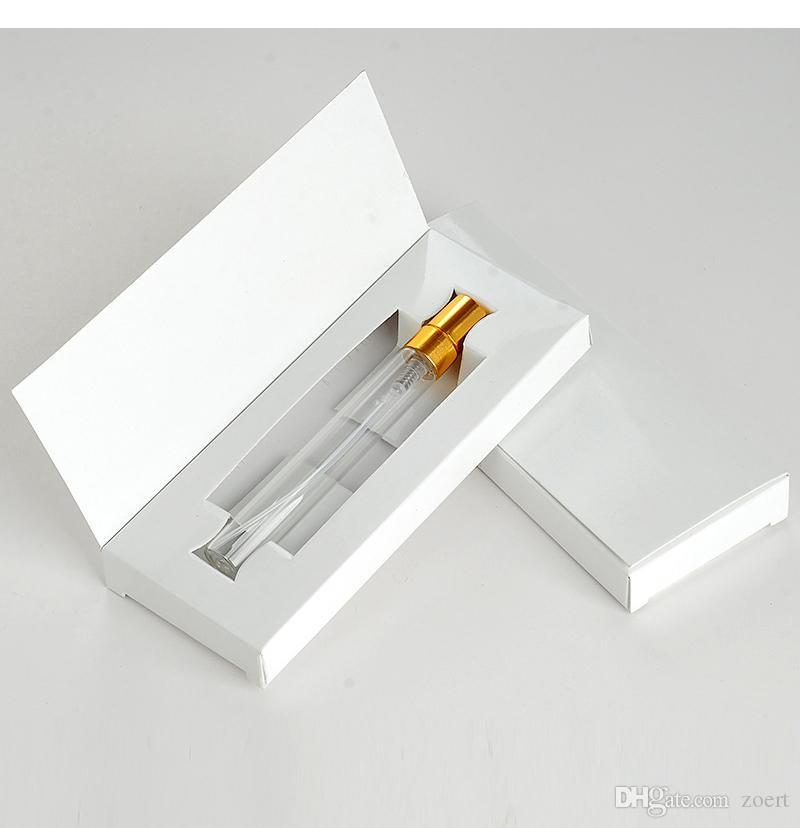 10ml leeren Flasche Parfüm Anpassbare Papierschachteln mit Atomizer leeren Parfüm Verpackung Kundenspezifisches Logo für Geschenk