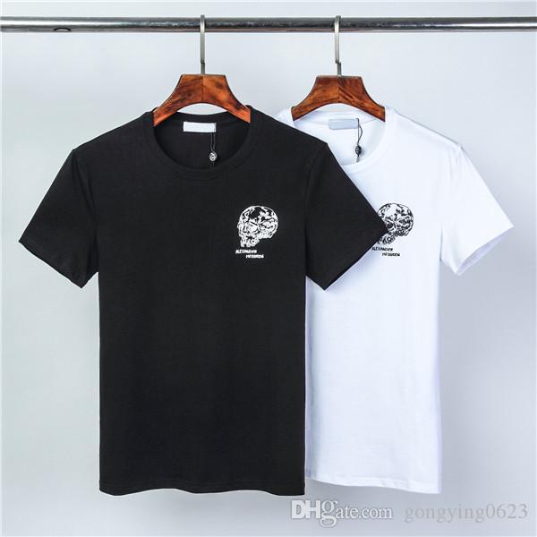 Nouveau 2020 Mode pour hommes T-shirt d'été O-Neck Hommes T-shirts à manches courtes pour homme, noir blanc Hauts T-shirts Top25