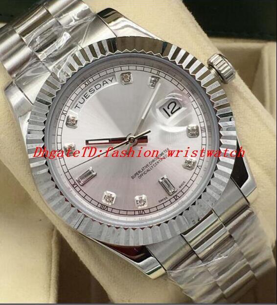 Luxusuhr 5 Stil 41mm Herren 18KT Weißgold Diamant Zifferblatt Edelstahl Asien 2813 Bewegung Automatische Herrenuhr Uhren
