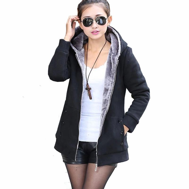 Дизайнер Толстовка Женщины Одежда Осень Женщины Zipper толстовки пальто Slim Fit руно куртки с длинным рукавом Теплый Мех Длинные пальто Плюс размер 4XL