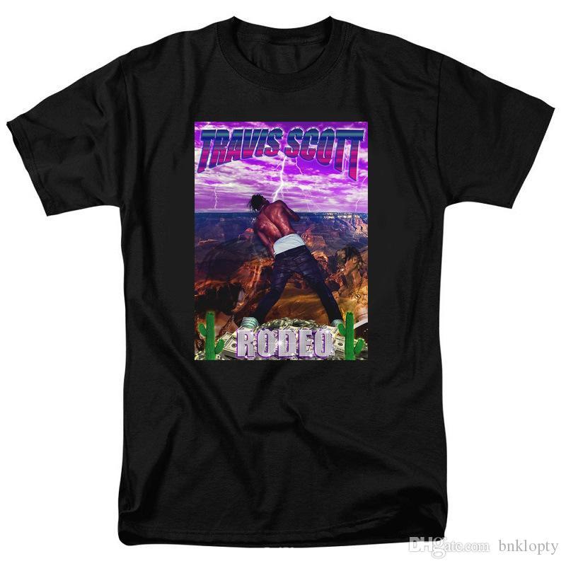 rapper Hip Hop T-shirt Travis Scott Astroworld personalità Modello Stampato manica corta girocollo T-shirt Designer