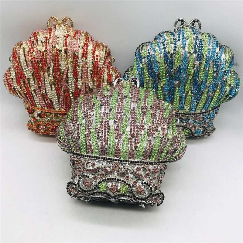 Diamants Sacs Pochette soirée strass femmes de luxe en cristal de mariée mariage Purse femmes mariage Sacs à main Sacs à main pour la mariée