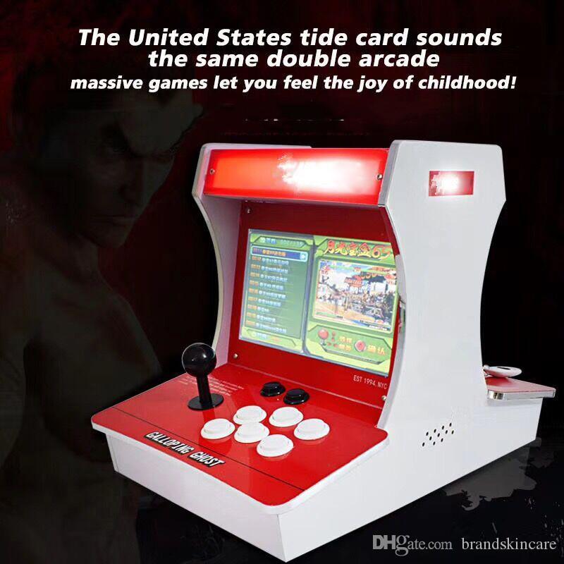 NUOVA console per giochi retrò retro galoppo fantasma arcade doppio giocatore LCD da 10 pollici con leva a bilanciere console di gioco spedizione gratuita DHL