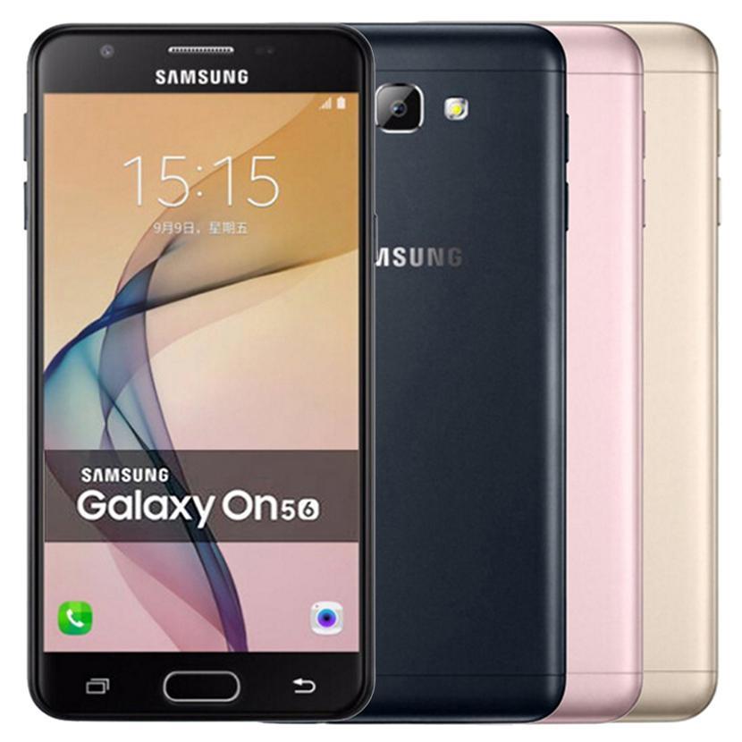 Refurbished Original Samsung Galaxy On5 2016 G5700 Dual SIM 5.0 inch Octa Core 3GB RAM 32GB ROM 13MP 4G LTE Android Cell Phone DHL 1pcs