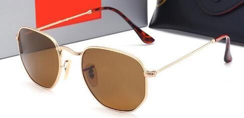Lüks-Marka Erkek Yeni Cam Güneş Gözlüğü Renkli Güneş Gözlüğü Sürüş Gözlük lüks adam tasarımcı güneş gözlüğü Durumda ve kutu Ile T542