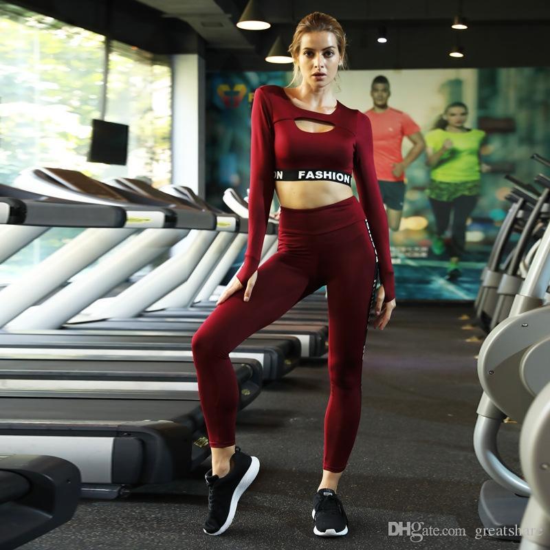 2019 Yoga Set Damenbekleidung Workout Set Brief 2-teiliges Set Frauen Sport Anzug Frauen Einzigartige Gym Wear Yoga Overall # 951449