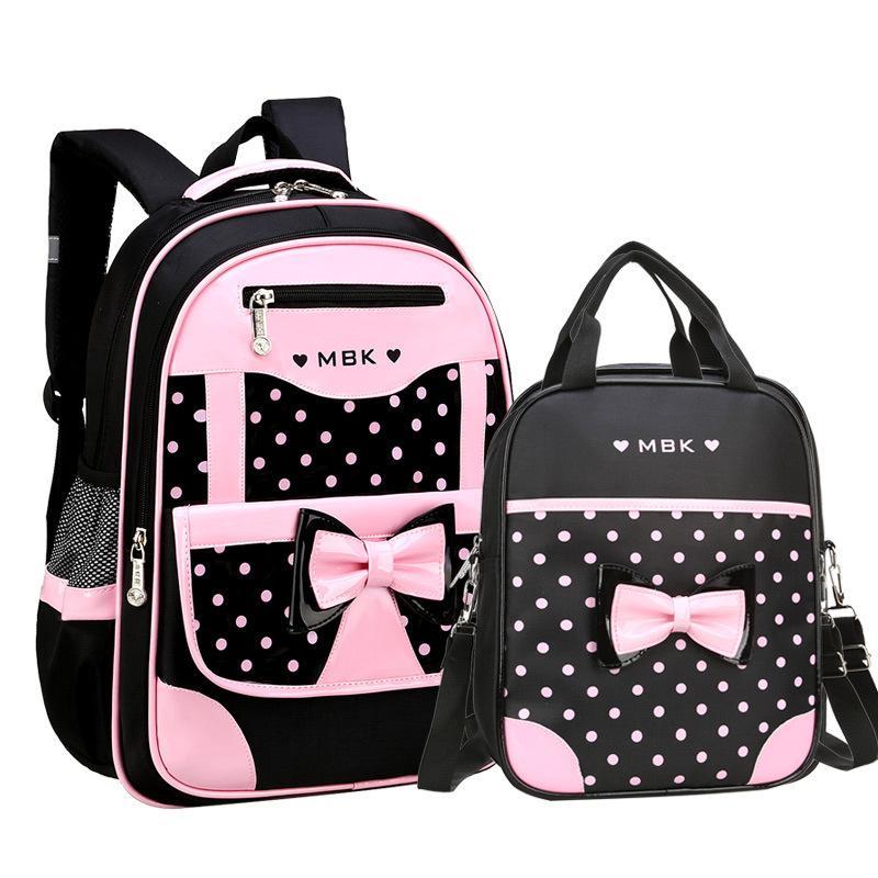 Borse scuola per ragazze 2019 dolce Principessa sveglia zaino dei bambini dei bambini Bookbag Primary School Backpack Y200106