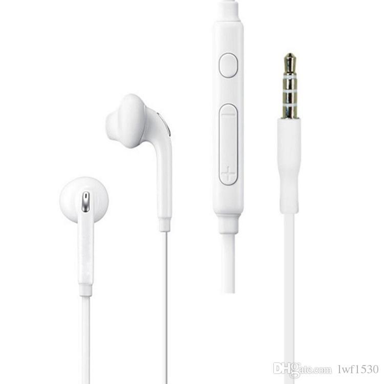 Alta qualità Per S7 S8 Auricolare Cuffie Auricolari per iPhone 5 6 Auricolare per Jack In Ear cablato con Mic Volume Control 3.5mm