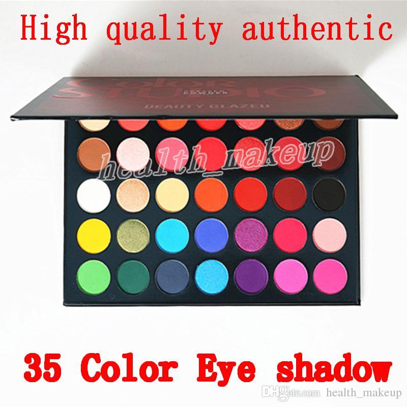 Makyaj Güzellik Sırlı Göz Farı Paleti 35 Renk Göz farı pırıltılı mat makyaj göz farı Renk Stüdyo paleti Marka Kozmetik DHL