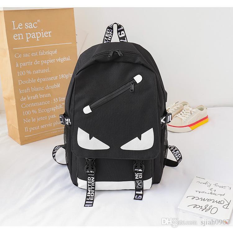 패션 디자이너는 남자와 여자 옥스포드 책가방 고명한 괴물 주머니 a dos 학교 검정 책가방 bookbag 를 책가방