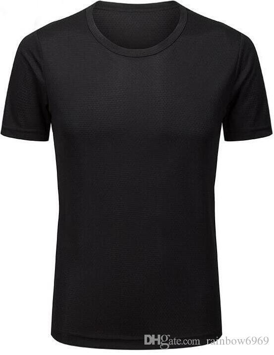 2019 мужские облегающие фитнес серые одежды работает с короткими рукавами спортивной растяжку быстрой сушки одежды футболку