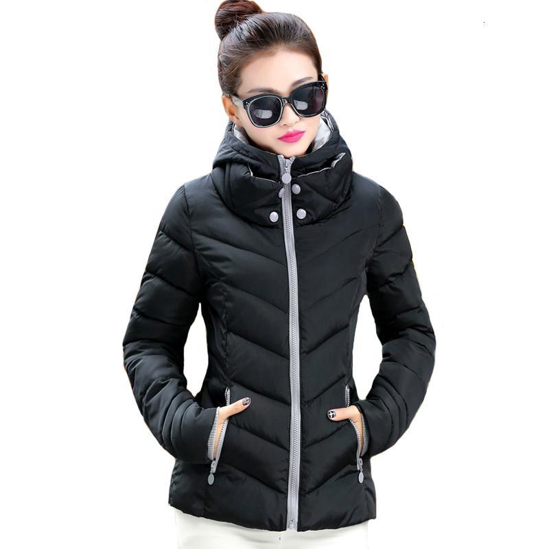 2019 kapüşonlu moda büyük beden 3XL kadınlar kış ceket katı standı yaka temel sonbahar ceket kadın ceket jaqueta Feminina Y191031 womens