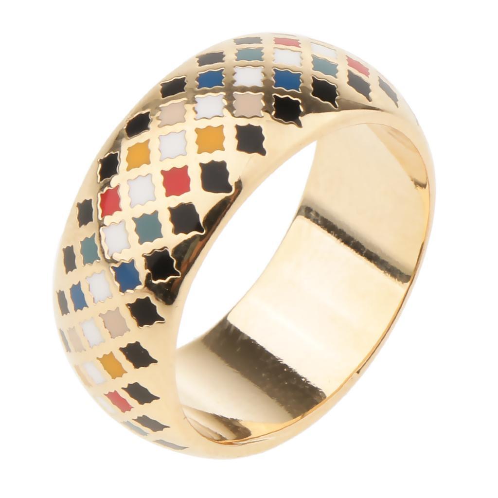 Empfindliche Reines Kupfer Emaille-Ring Buckles Schal Ring Multi Zubehör