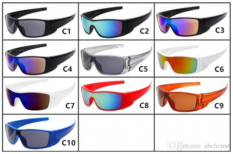 10pcs SUMMER MEN deportes UV ciclismo gafas de sol gafas protectoras de conducción moda mujer gafas de montar al aire libre 10 colores