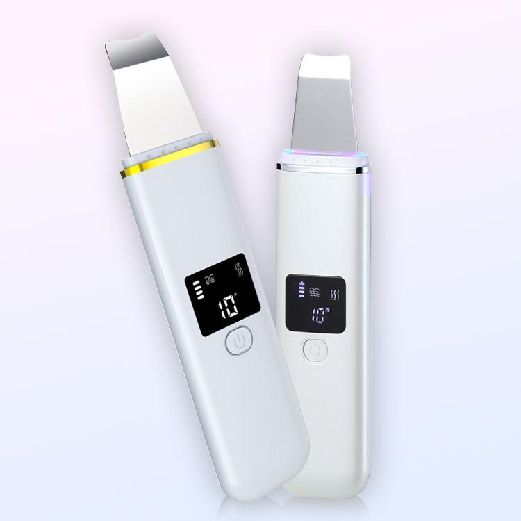 Vente chaude rechargeable à ultrasons visage peau Scrubber Cleaner Nettoyant Visage Spatule Peeling Vibration faciale appareils de nettoyage