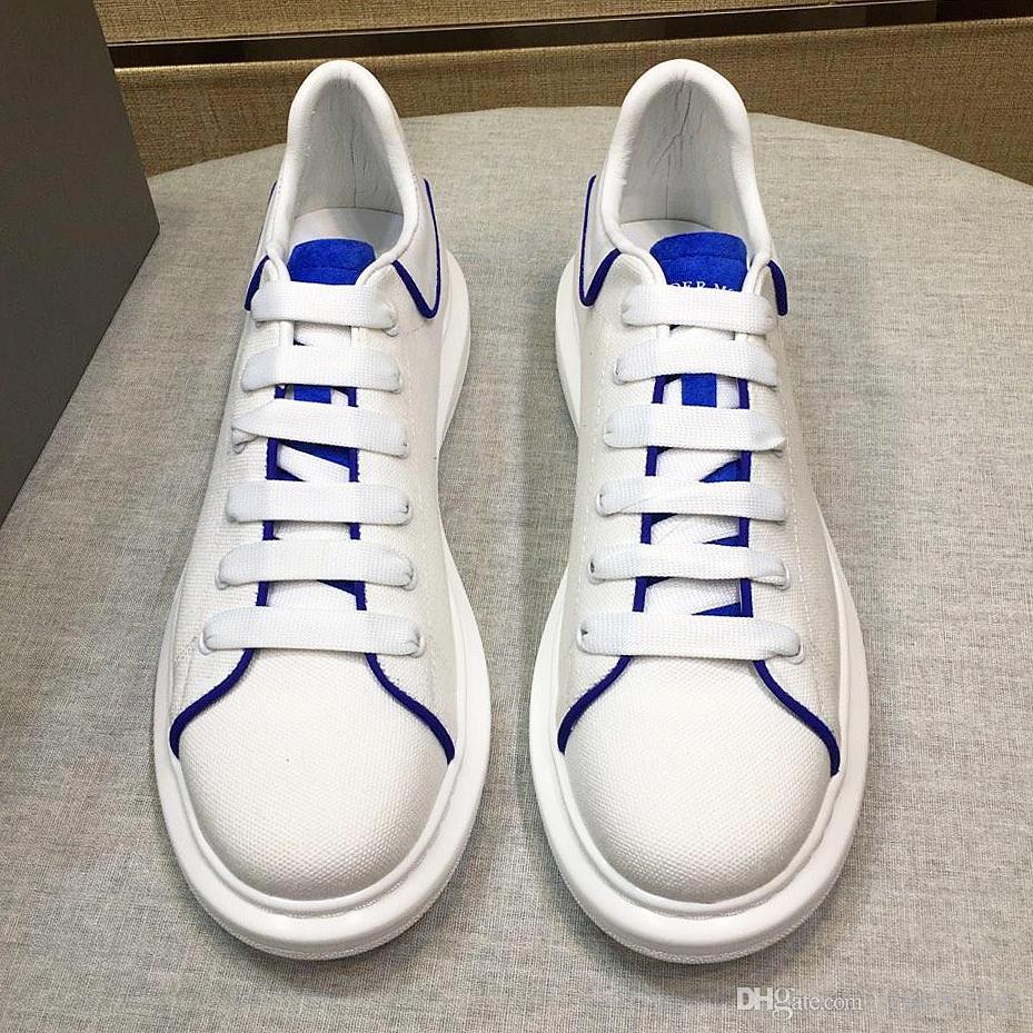 Großhandel 2019 Neue Design Männer Casual Schuhe Mode Männer Leder Spitze Plattform Übergroßen Sohlen Sportschuhe Weiß Schwarz Casual Schuhe Mit