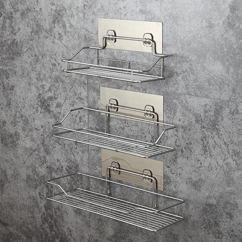 코너 선반 샤워 강력한 흡입 스테인레스 스틸 선반 욕실 선반 샤워 샴푸 홀더 바구니
