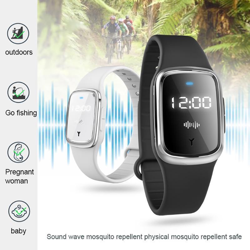 Repelente de mosquitos pulsera anti-mosquitos de plagas BraceletTime reloj de la exhibición de mosquitos repelente de pulsera inteligente # 35
