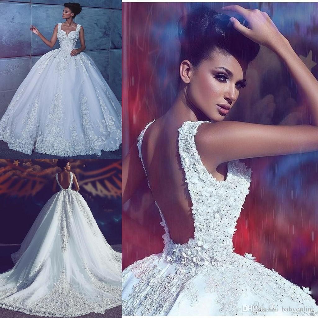 Dubai árabe lace luxo plus size vestido de baile vestidos de casamento aberto de volta longo vestido de noiva vestidos de noiva com contas apliques ruched