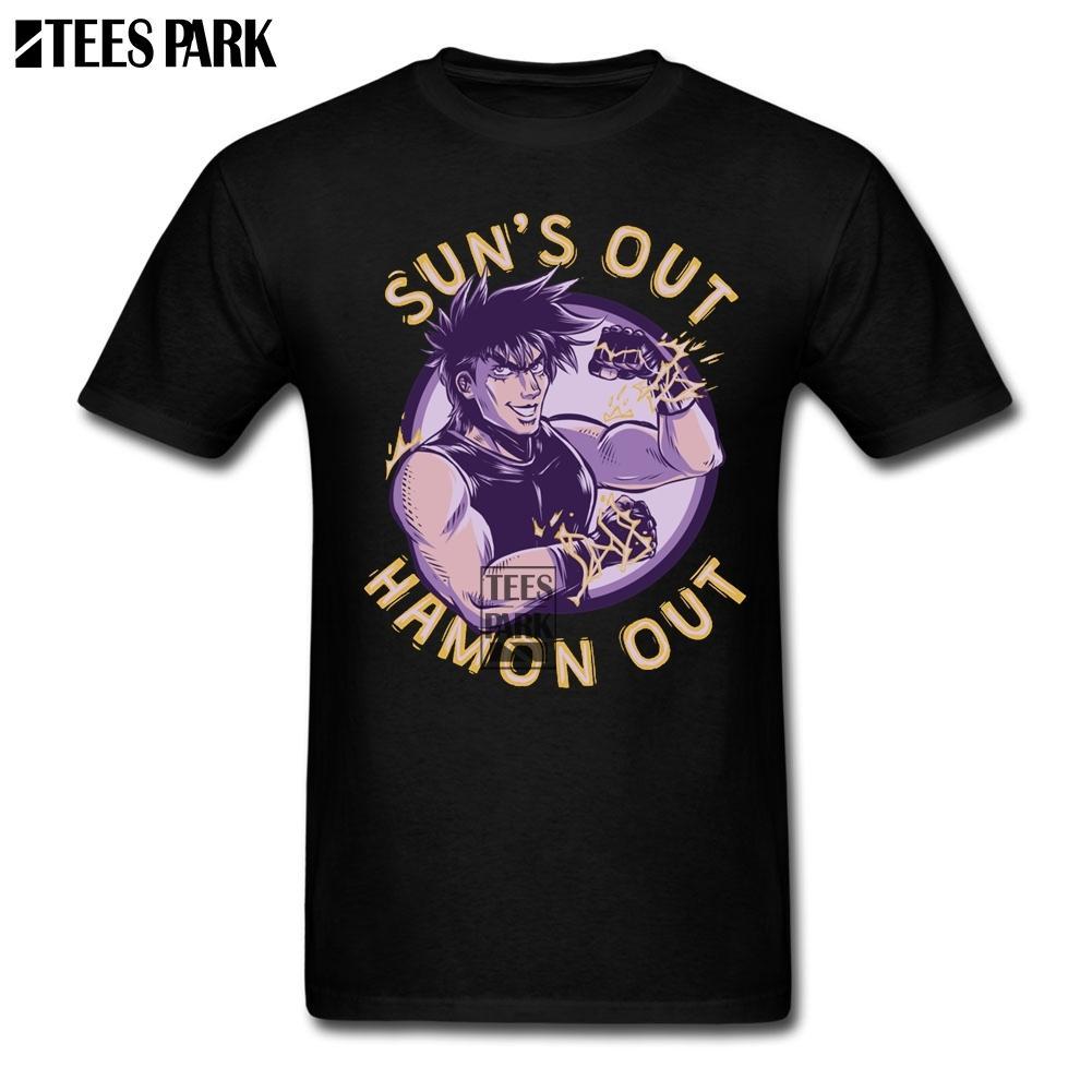 Erkekler Tee Gömlek Jojo Jojos Tuhaf Macera Joseph Joestar Erkekler Için T Gömlek Pamuk Yeni Stil Adam T Shirt Olun