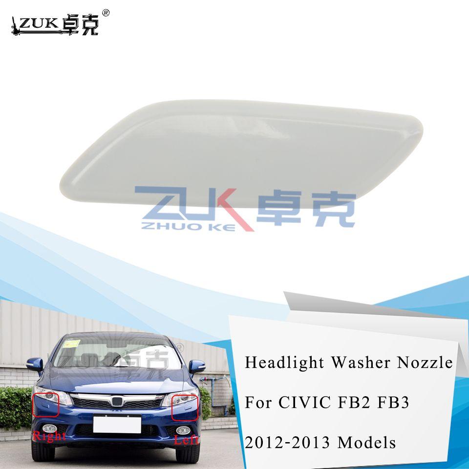 ZUK Headlight Washer Nozzle Cover Headlamp Water Spray Jet Cap Lid For HONDA CIVIC 2012 2013 FB2 FB3 76886-TR0-S01 76881-TR0-S01