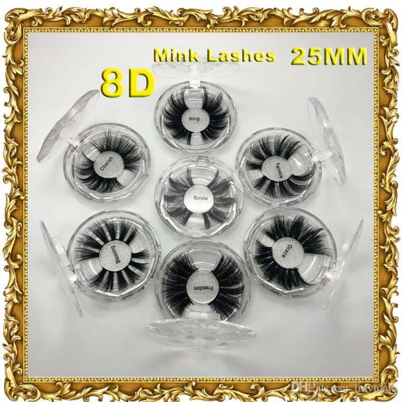 5D 25mm False Eyelashes Large Eyelashes pure handmade false eyelashes soft water mane mink thick and long