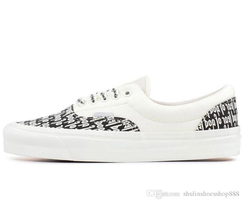 la peur de marque pas cher de dieu hommes femmes toile sneakers blanc noir classique YACHT CLUB skate mode bleu rouge chaussures de sport