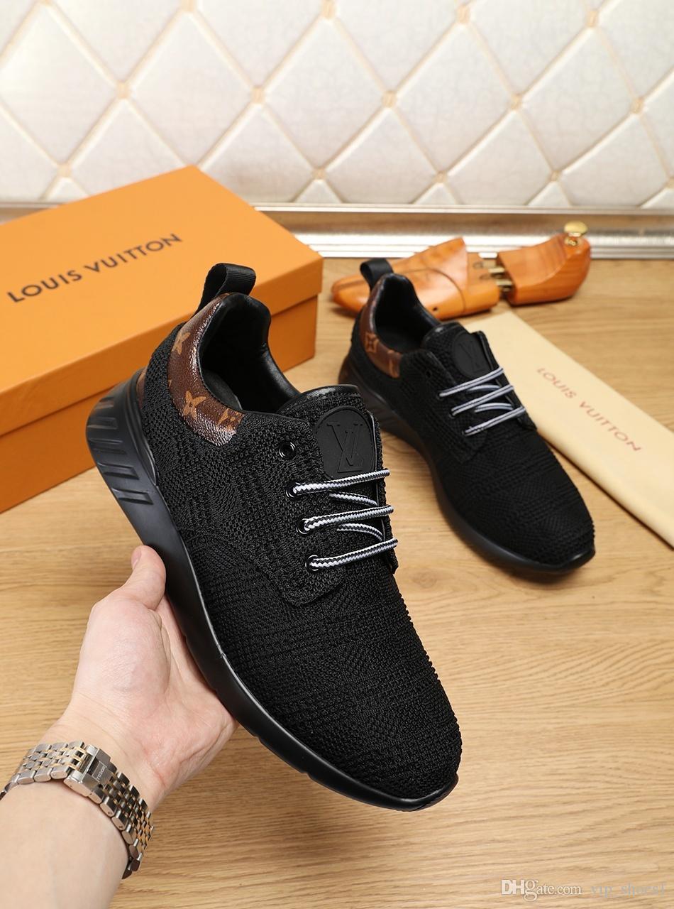 2020w nouvelle édition limitée Luxury Design Chaussures de sport Mode pour hommes, Souliers simple d'homme sauvage Respirant, Parti Chaussures Hommes Taille: 38-45