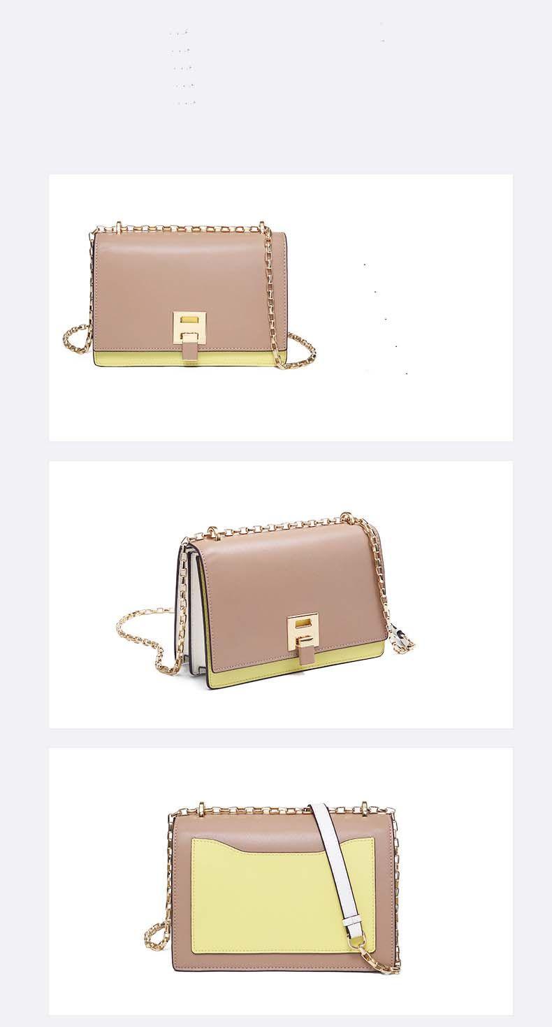 Дизайнер-Charm2019 сумка кожа плечо сумка из натуральной Поймайте цепи коровьей Женщина Пакет