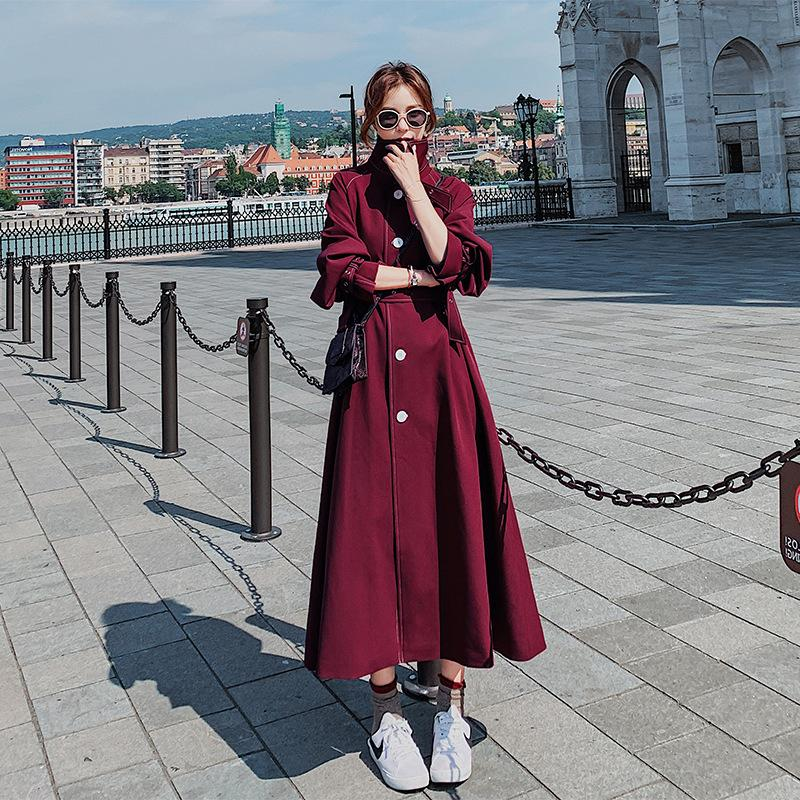 2021 Womens Trench Coats Spring Autumn, Red Trench Coat Women S Plus Size