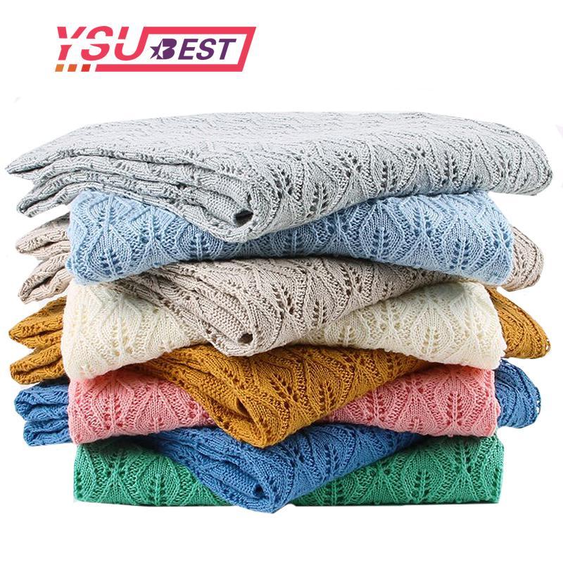 -Qualitäts-Kinder gestrickten Decke Newborn Super Soft Warm Infant Wolldecke für Jungen, Mädchen, Kinder 100 * 80cm Für Krippe Bett SH190917